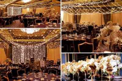 Kerstfeest zakelijk evenement personeelsfeest verlichte plafond luchtdecoratie en versiering huren organiseren afbeelding 11