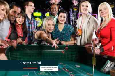 Las Vegas Bedrijfsfeest thema spelen aan de craps tafel