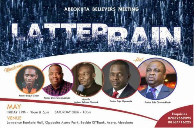 #Events : Abeokuta Believers Meeting Presents Latter Rain