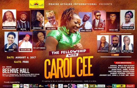 EVENT : THE FELLOWSHIP WITH CAROL CEE  06/08/2017  [@iamCarolCee]