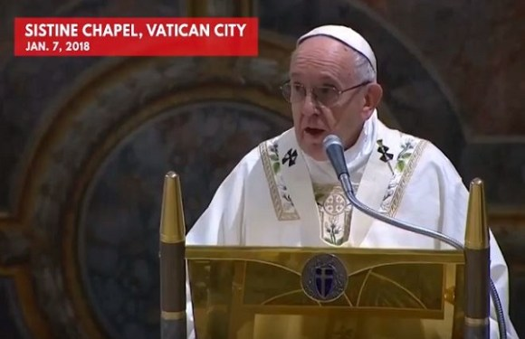 POPE BAPTIZES 34 BABIES AND ENCOURAGES MOTHERS TO BREASTFEED THEM