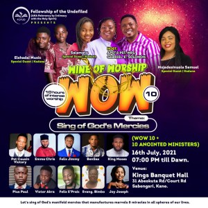 EVENT – WINE OF WORSHIP 10 (WOW 10+10)