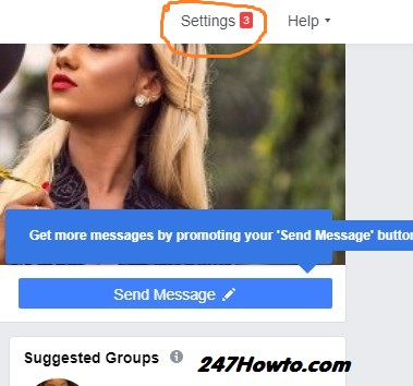 where to find Facebook page role