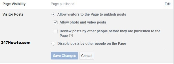 control who can post on my page
