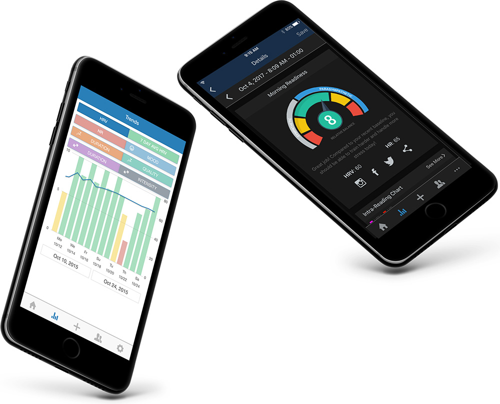 Elite HRV's mobile app developed by 247 Labs
