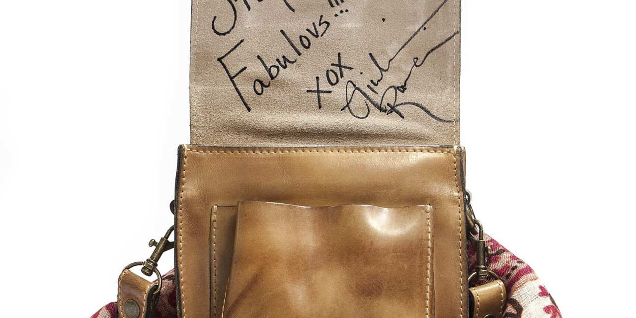 "Bid On a Celebrity ""Signed"" Bag: @PatriciaNashBag @jenniegarth @GiulianaRancic @ElizabethHurley @IAmCattSadler- Bidding Starts at $100"
