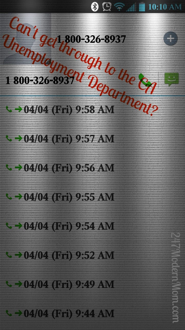 Unemployment Call Log
