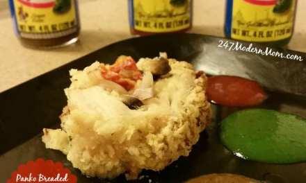 Panko Breaded Stuffed Chicken Breast Recipe with a Side of Habanero Heat