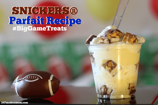 Game-Day-Snickers-Parfait Recipe #ad