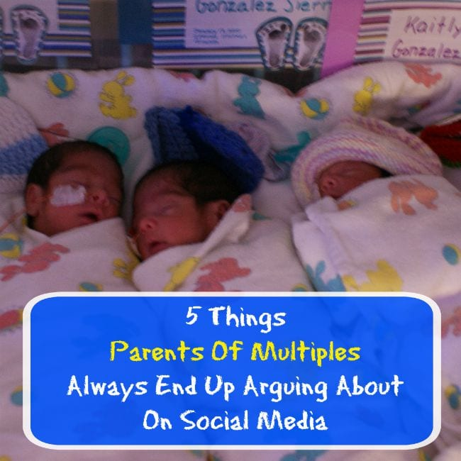 5 Things Parents Of Multiples Always End Up Arguing About On Social Media