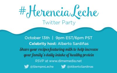 Milk Life 'Somos Fuertes' #HerenciaLeche Bilingual Twitter Party  Featuring Alberto Sardiñas