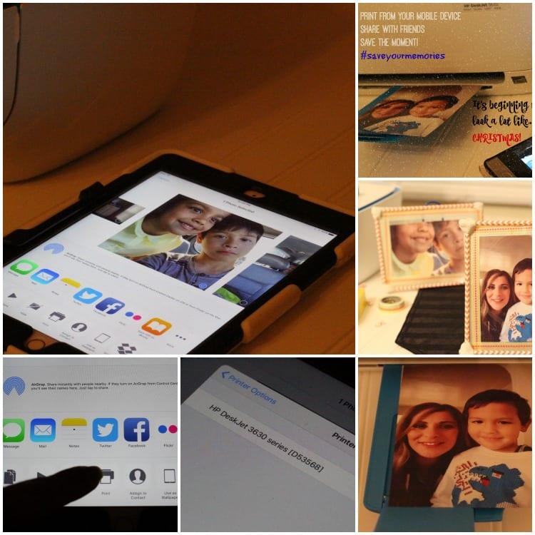 Photo Frame tutorial collage