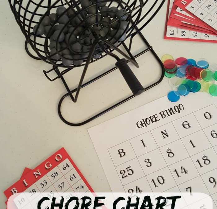 Chore Chart BINGO + Printable: Make Cleaning Fun