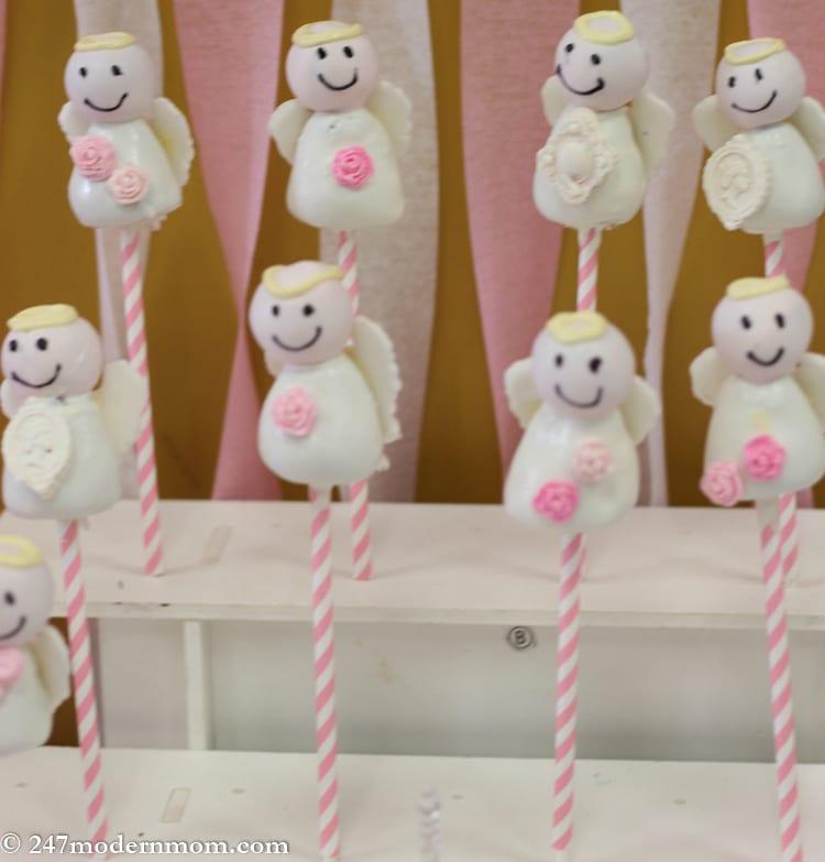 White Angel Cake Pops