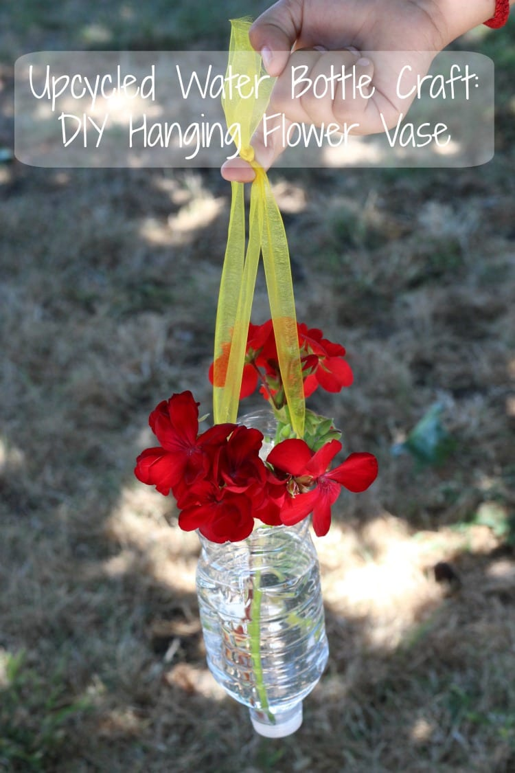 Water Bottle Hanging Flower Vase