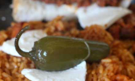 Chorizo & Frijoles Torta w/ Spanish Rice & Contest