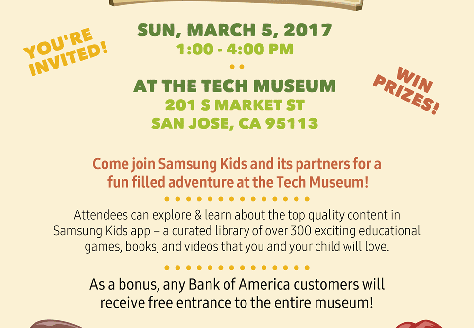 The Tech Museum of Innovation, San Jose: Free Samsung Kids App Jam Invite