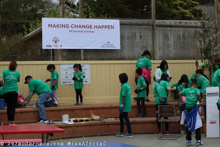 Comcast Cares Day Sutro Elementary