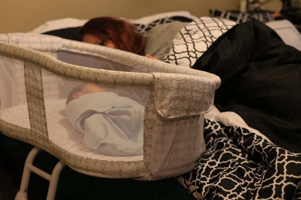 Breastfeeding at Night Made Easier with a Bedside Bassinet