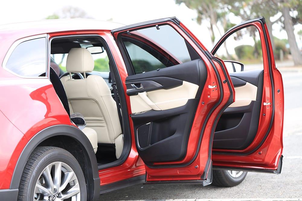 Mazda CX-9 Review Open Doors