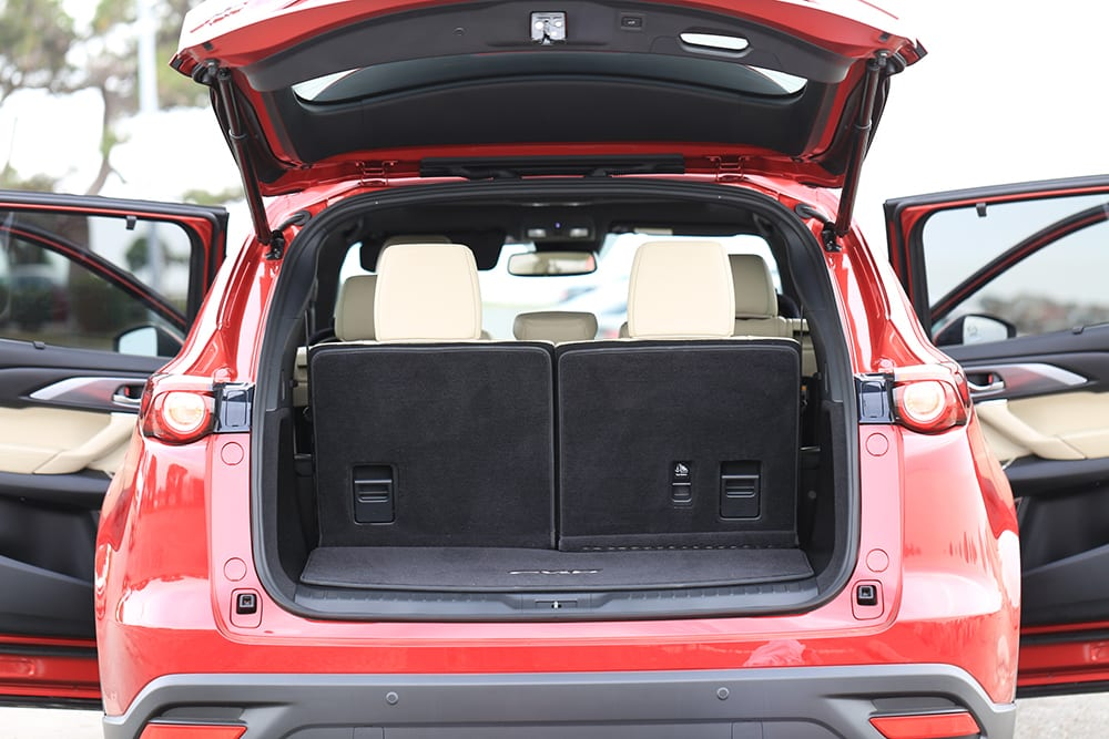 Mazda CX-9 Review Open Trunk