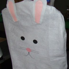 Dollar Tree Bunny Chair Covers Folding Table With Chairs Inside Diy Easter Decorations From My Home To Yours 24 7 Moms