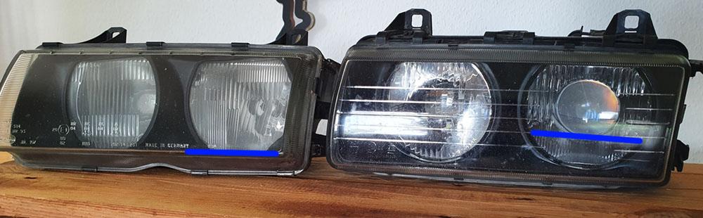 BMW E36 Schweinfer Lichtaustrisskante