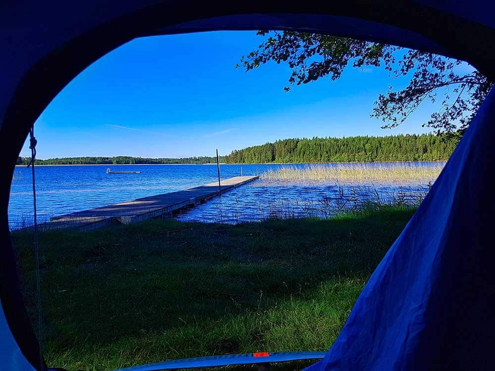 Blick aus Zelt