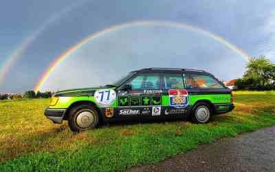"""Die Geschichte unseres Rallyeautos Mercedes W124 """"Ludwig"""""""