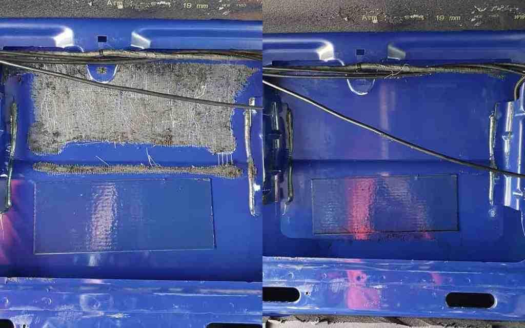 Vorher-Nachher Vergleich Armaflex entfernen