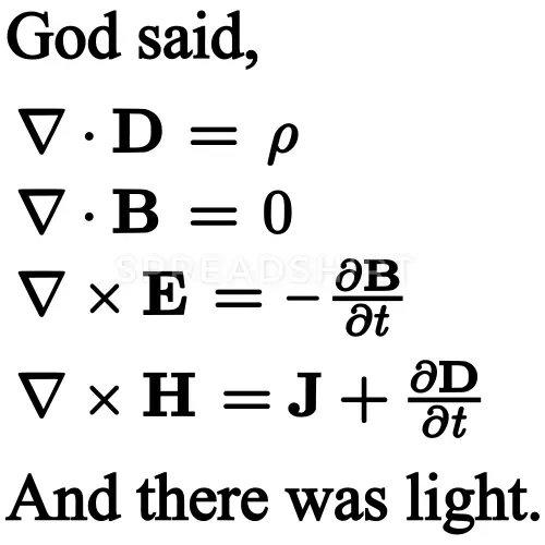 God said…Let it be light