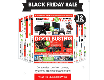 Gamestop Offers Up Massive List Of Black Friday Sales And