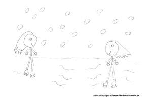 Malvorlage Schlittschuhlaufen PDF 24 Adventskalender