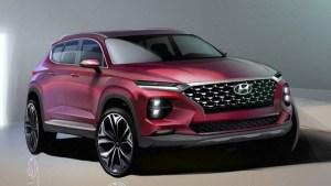 Primele schite oficiale ale noului Hyundai Santa Fe