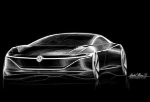 Limuzina electrica Volkswagen I.D. Vizzion este anuntata pentru 2022