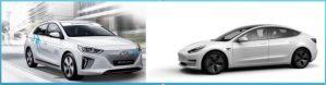 Experiente electromobilistice paralele cu Hyundai Ioniq si Tesla Model 3