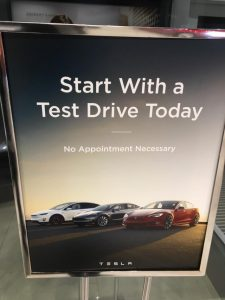 My first Tesla experience, driving the Model 3