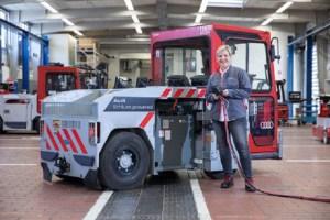 Experiment inedit la Audi: baterii litiu-ion uzate, pe vehiculele utilizate in fabrica