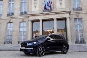 Automobilul prezidential DS7 Crossback, expus la Elysée