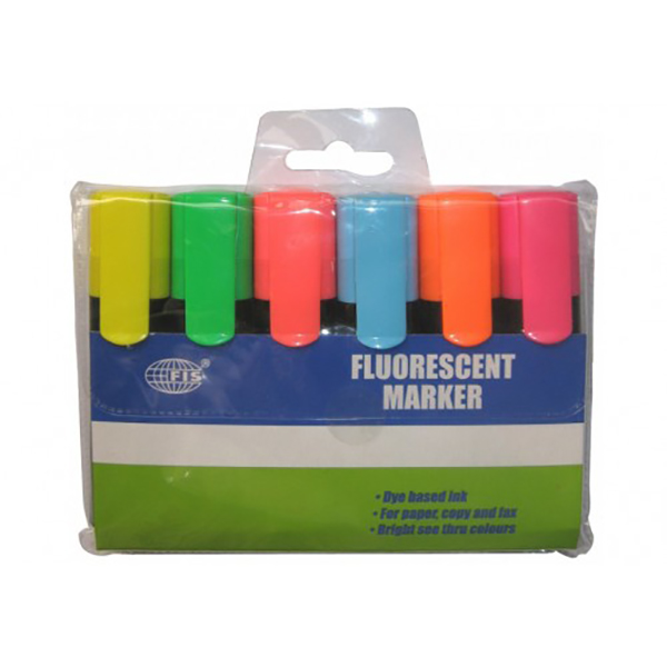 FIS Fluorescent marker 6 colors-mass-printing