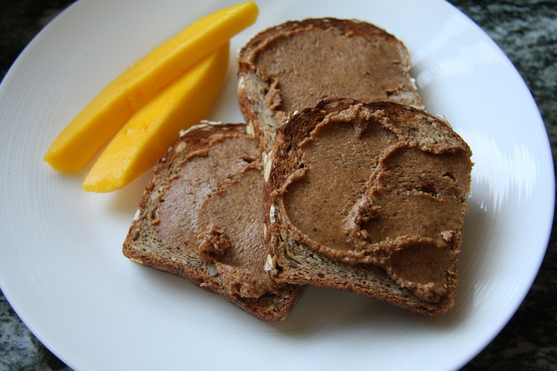 Maple Cinnamon Almond Butter with Chia and Flax Seeds I 24 Carrot Life