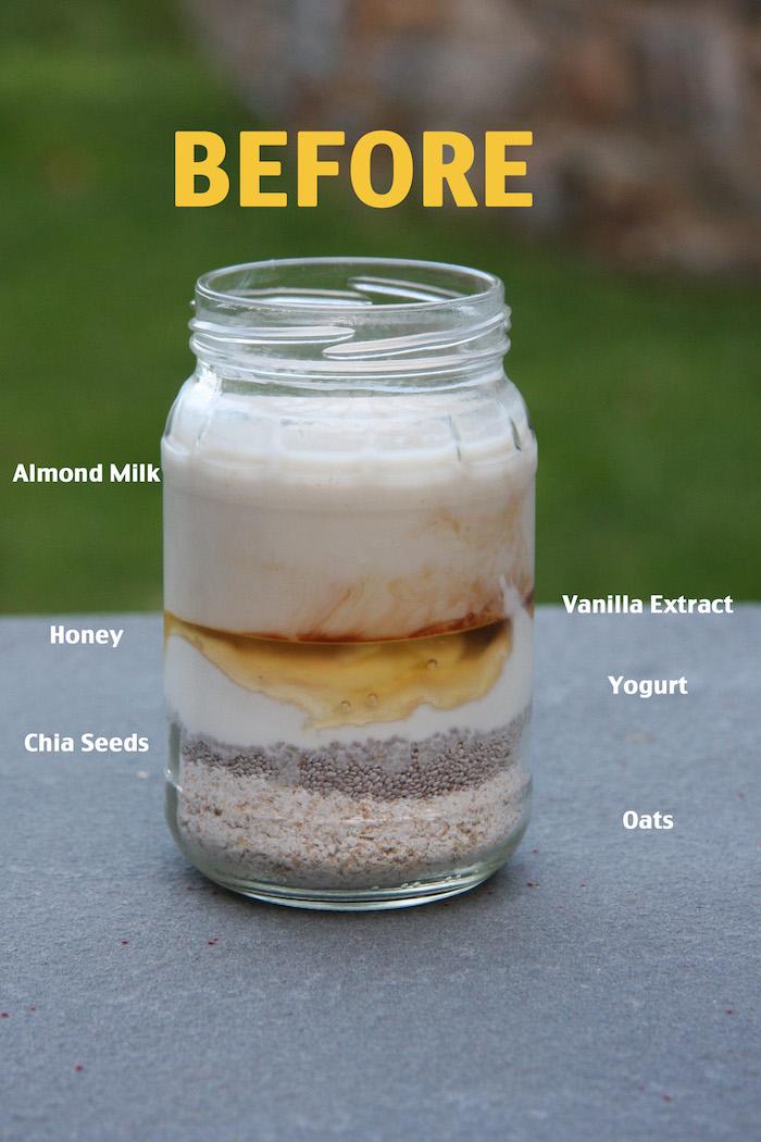 Vanilla Overnight Oats // 24 Carrot Life #healthy #oatmeal #overnightoats
