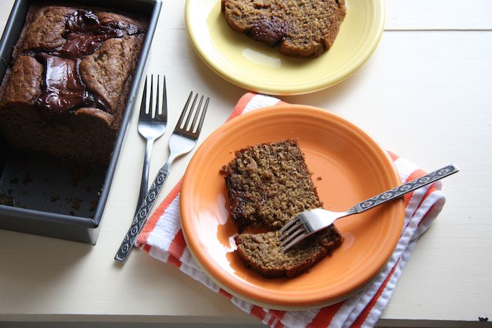 Self- Frosting Nutella Banana Bread // 24 Carrot Life