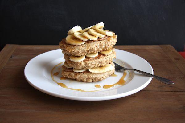 Almond Butter & Banana Stuffed Whole Wheat Pancakes I 24 Carrot Life