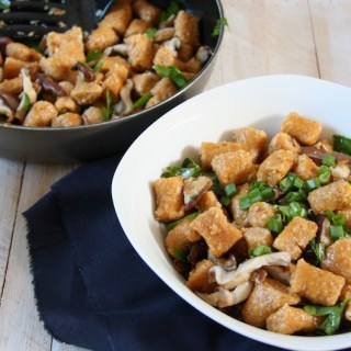 Sweet Potato Gnocchi with Coconut Oil Shiitake Mushrooms