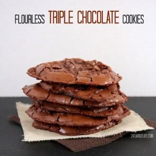 Flourless Triple Chocolate Cookies (gluten & dairy free)