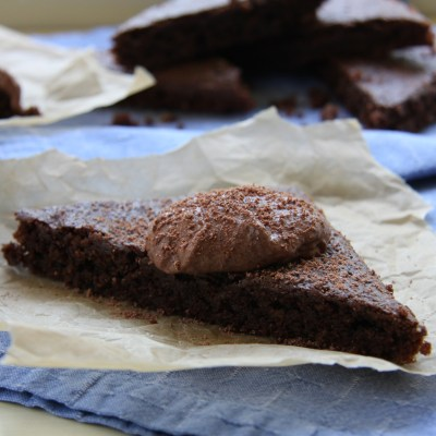 Gluten Free Brownies with Vegan Chocolate Frosting