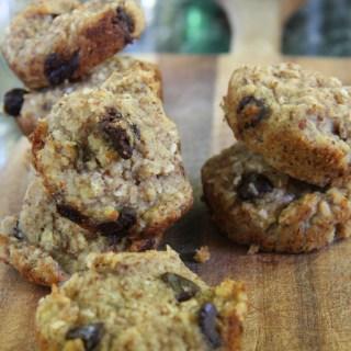 Chocolate Chip Banana Muffins (gluten free and vegan)