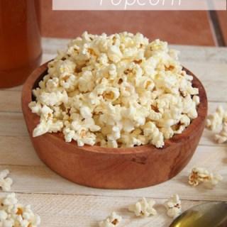 Sea Salt Honey Coconut Popcorn