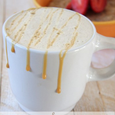 Skinny Caramel Latte & How to Make Latte Foam without a Machine